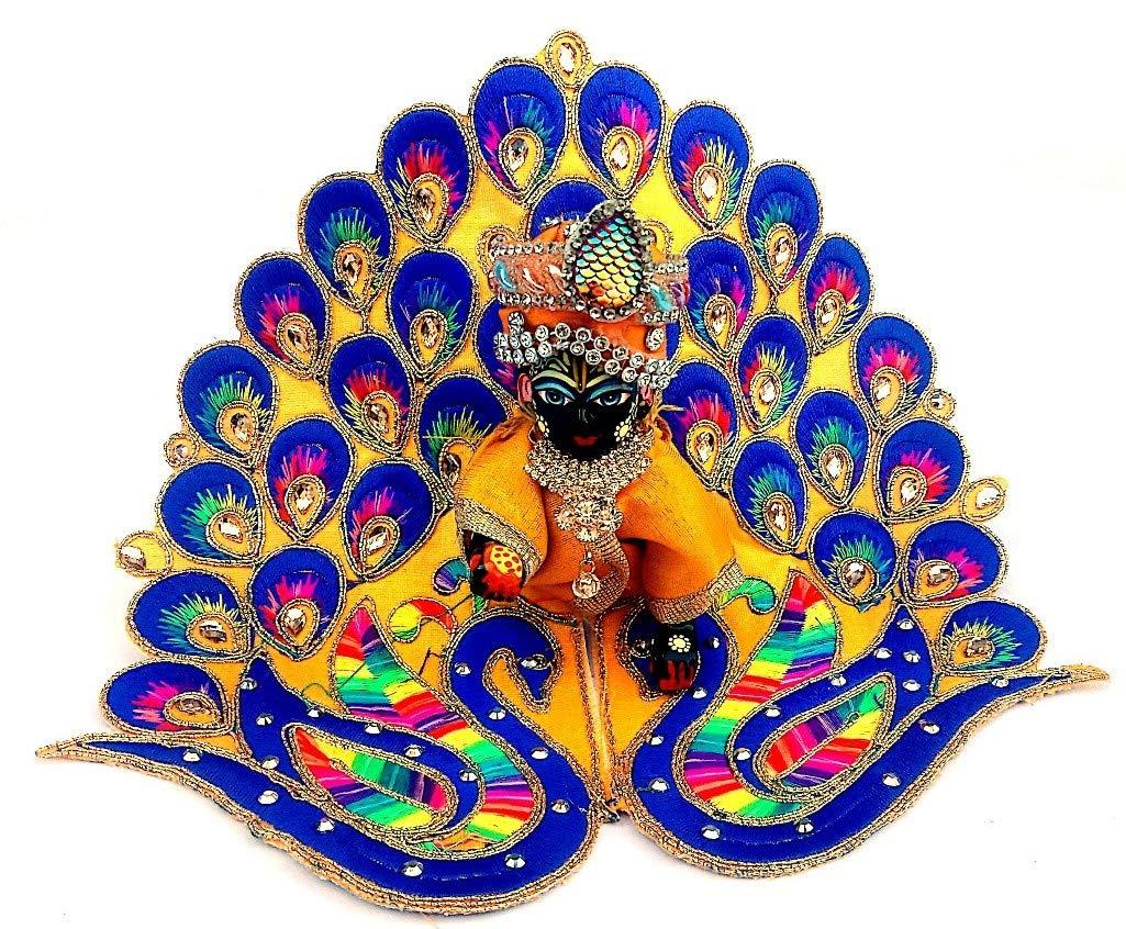 Krishnagallery Laddu Gopal Dress Peacock Design For - Kanha Ji Laddu Gopal - HD Wallpaper