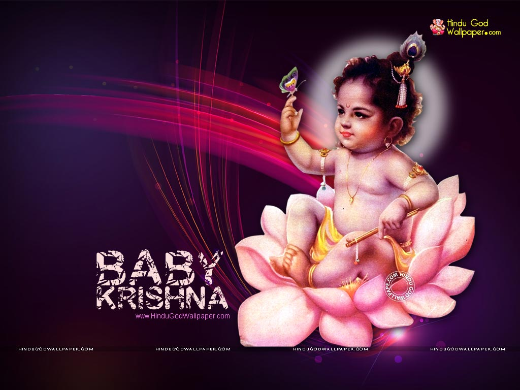 Cute Krishna Baby Cute Baby Krishna Painting 1024x768 Wallpaper Teahub Io