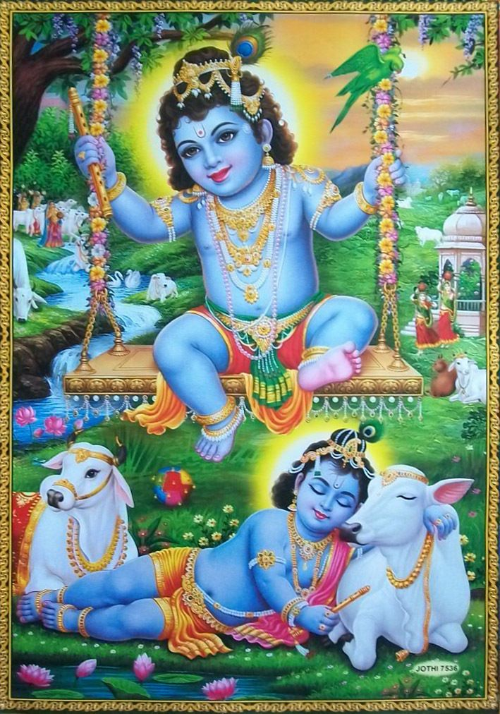 Yashoda Krishna Images Hd Cartoon - Lord Krishna Lovely - HD Wallpaper