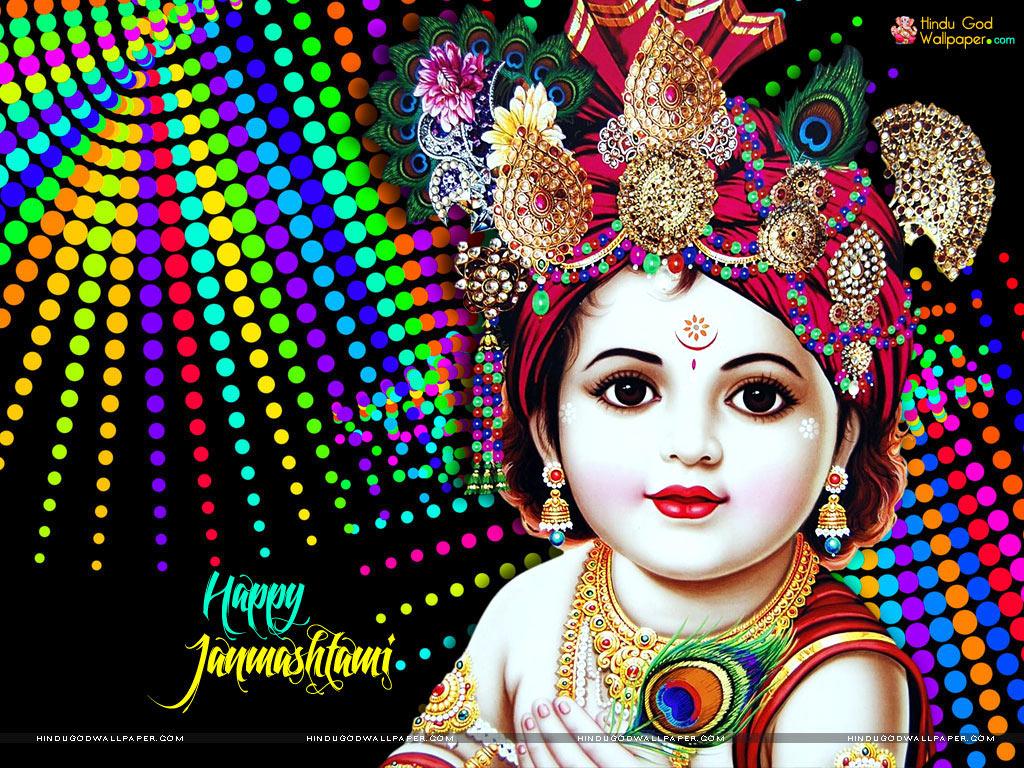 Best Happy Krishna Janmashtami Wallpapers Free Download - Cute Happy Krishna Janmashtami - HD Wallpaper