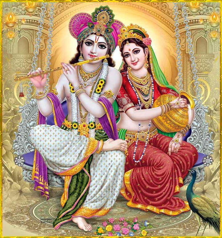 Lord Radha Krishna Love Images - Full Hd Radha Krishna - HD Wallpaper