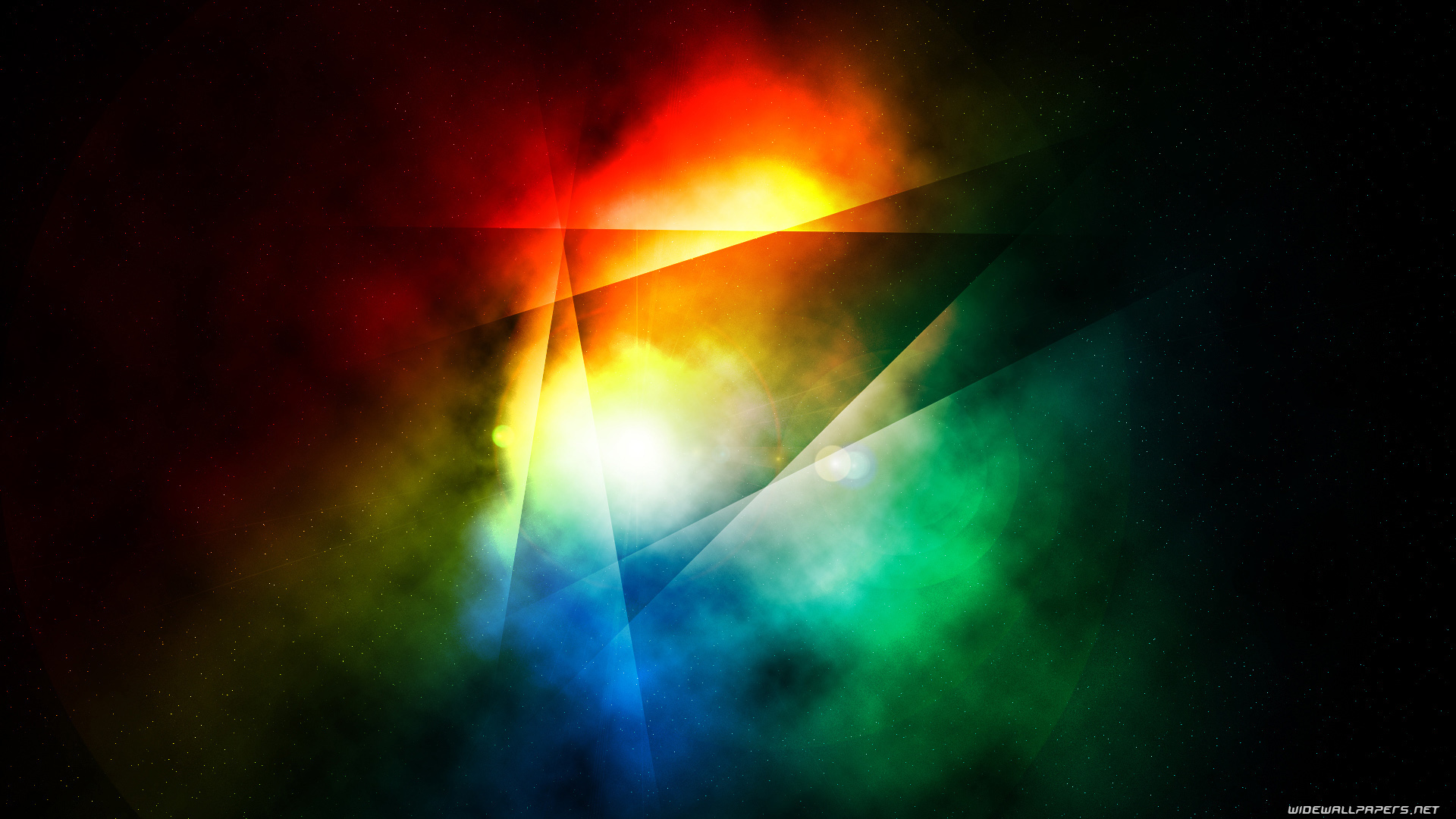 Dark Colorful Abstract Wide Screen - HD Wallpaper