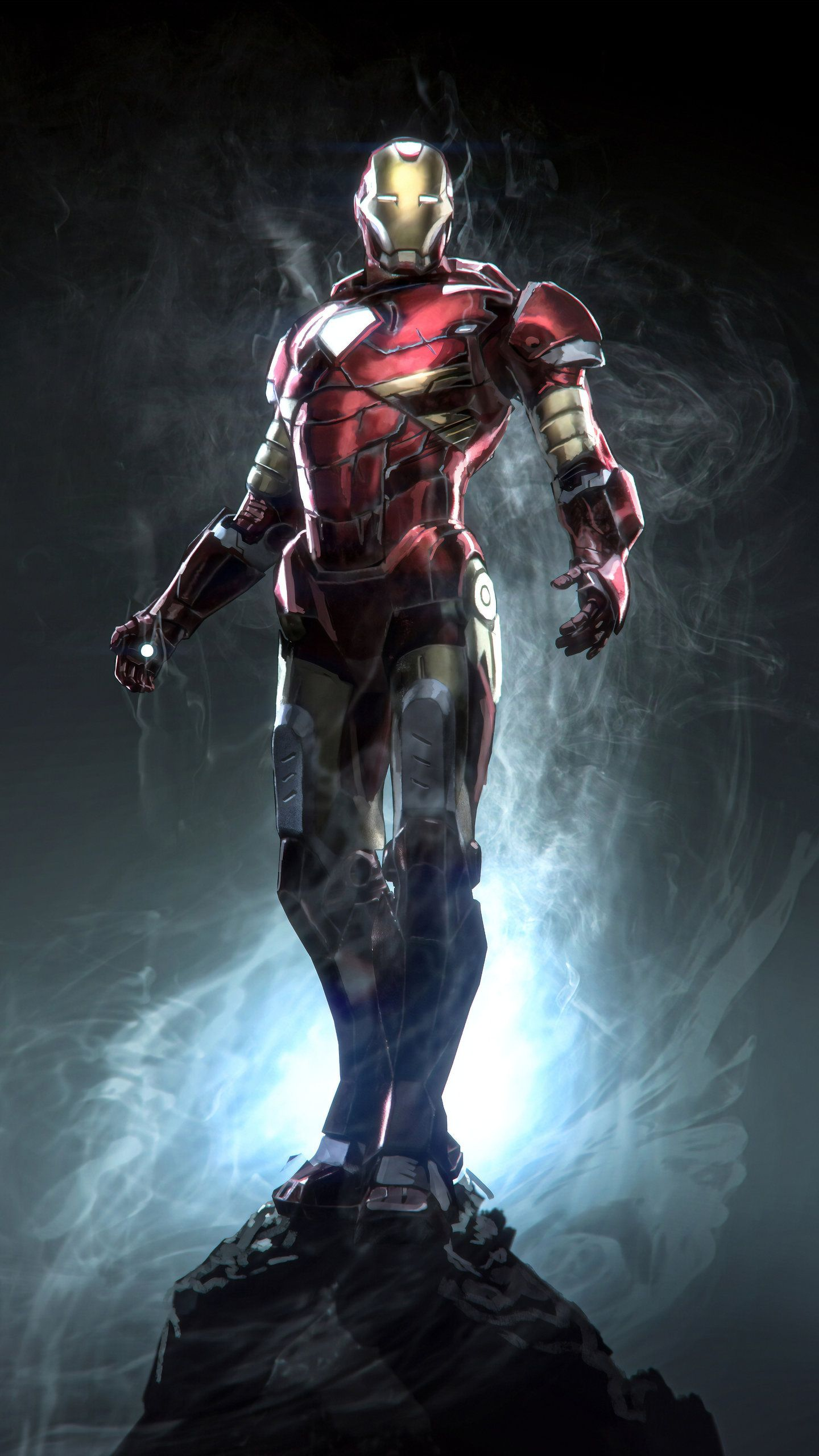 4k Marvel Iron Man 1440x2560 Wallpaper Teahub Io