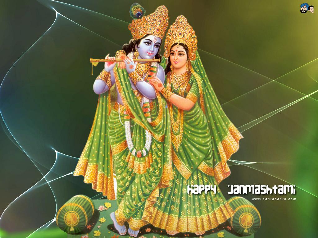 Lord Krishna - Shri Radhe Krishna Hd - HD Wallpaper