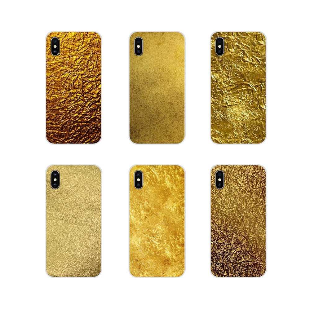 Soft Transparent Shell Cover Metallic Gold Foil Wallpaper - Gold Metal - HD Wallpaper