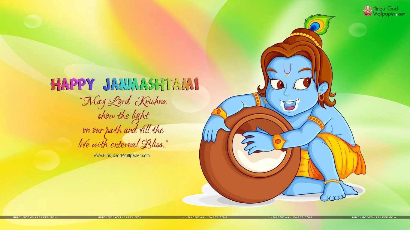 Vector Of Lord Krishna - HD Wallpaper