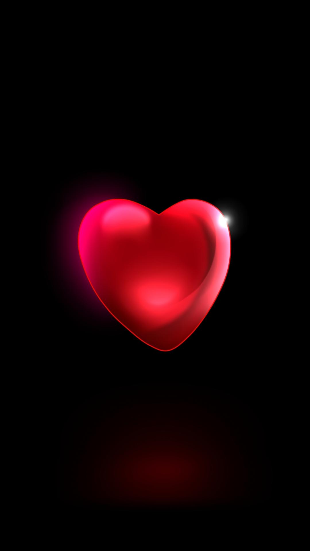 Black Wallpaper With Red Heart 1080x1920 Wallpaper Teahub Io