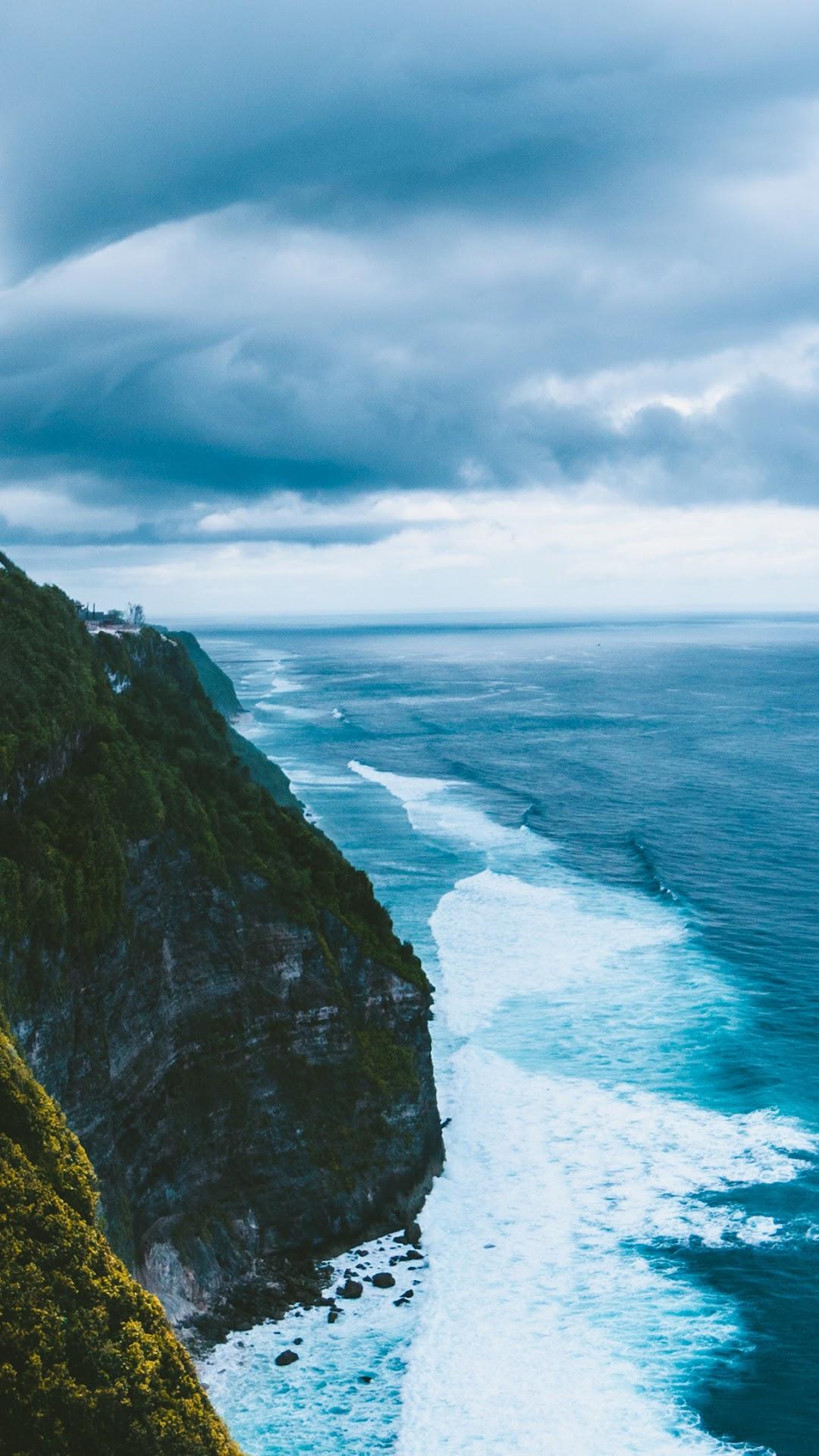 Seascape Sea Clouds Horizon 4k 3840x2160 Iphone 11 Pro Max Wallpaper Ocean 1080x1920 Wallpaper Teahub Io