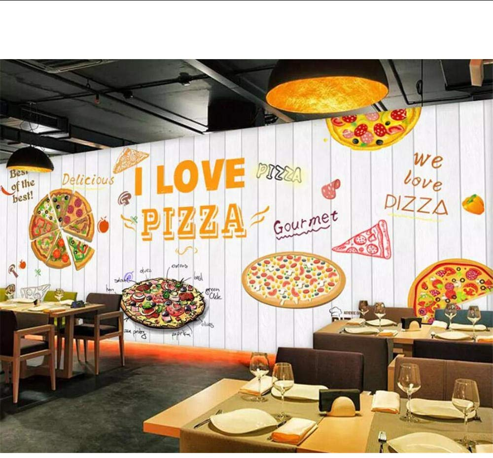 Custom 3d Mural White Wooden Board Pizza 3d Wallpaper Coffee Shop Wall Design 1000x930 Wallpaper Teahub Io