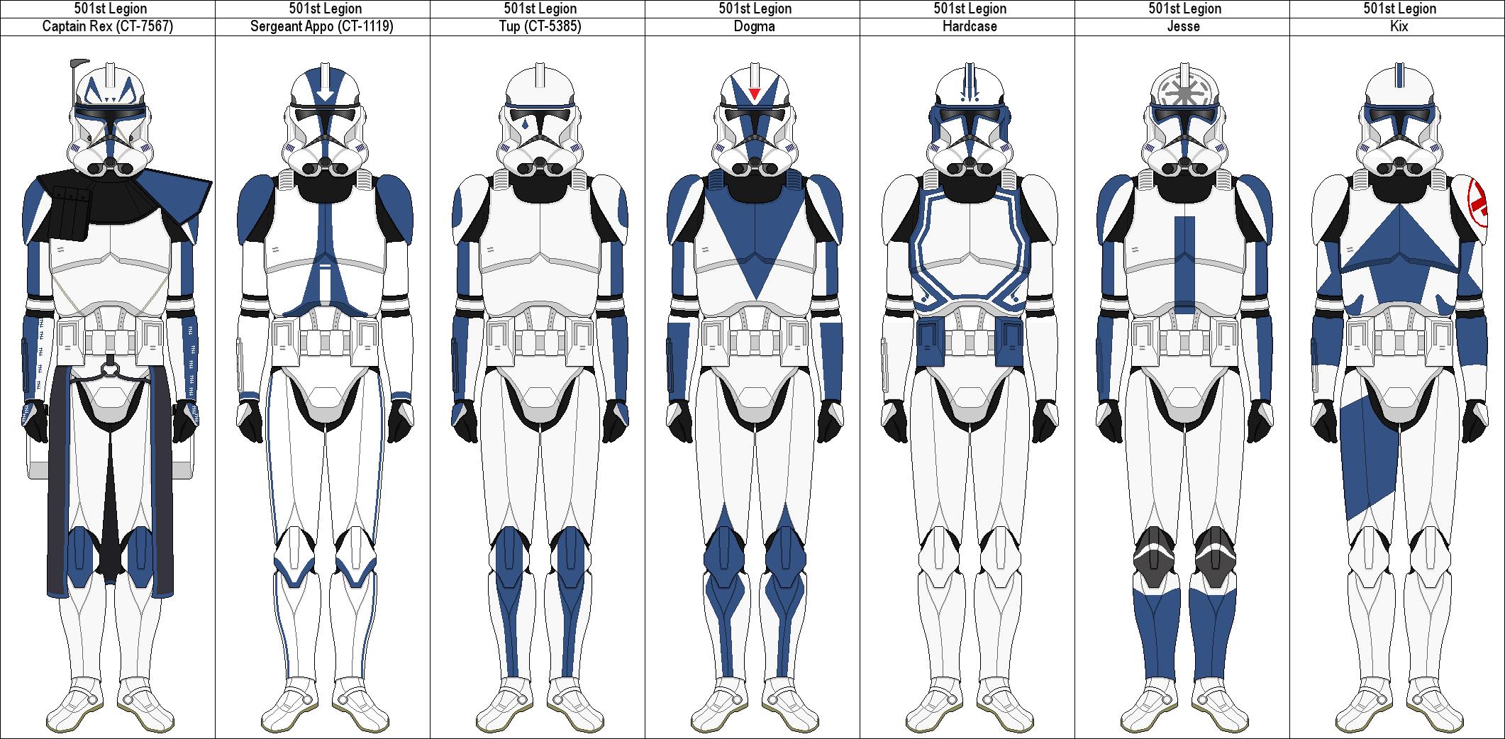 501st Clone Trooper Wallpaper Clone Wars 501st Legion Members 2122x1042 Wallpaper Teahub Io
