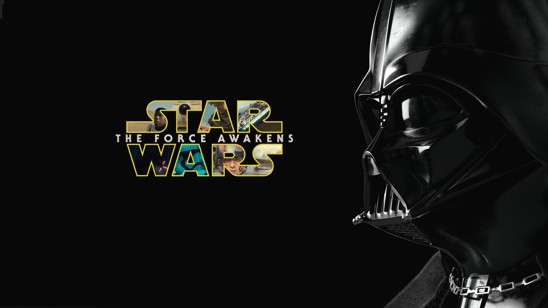 Darth Vader With Star Wars Force Awakens Wallpaper Darth Vader 1920x1080 Wallpaper Teahub Io
