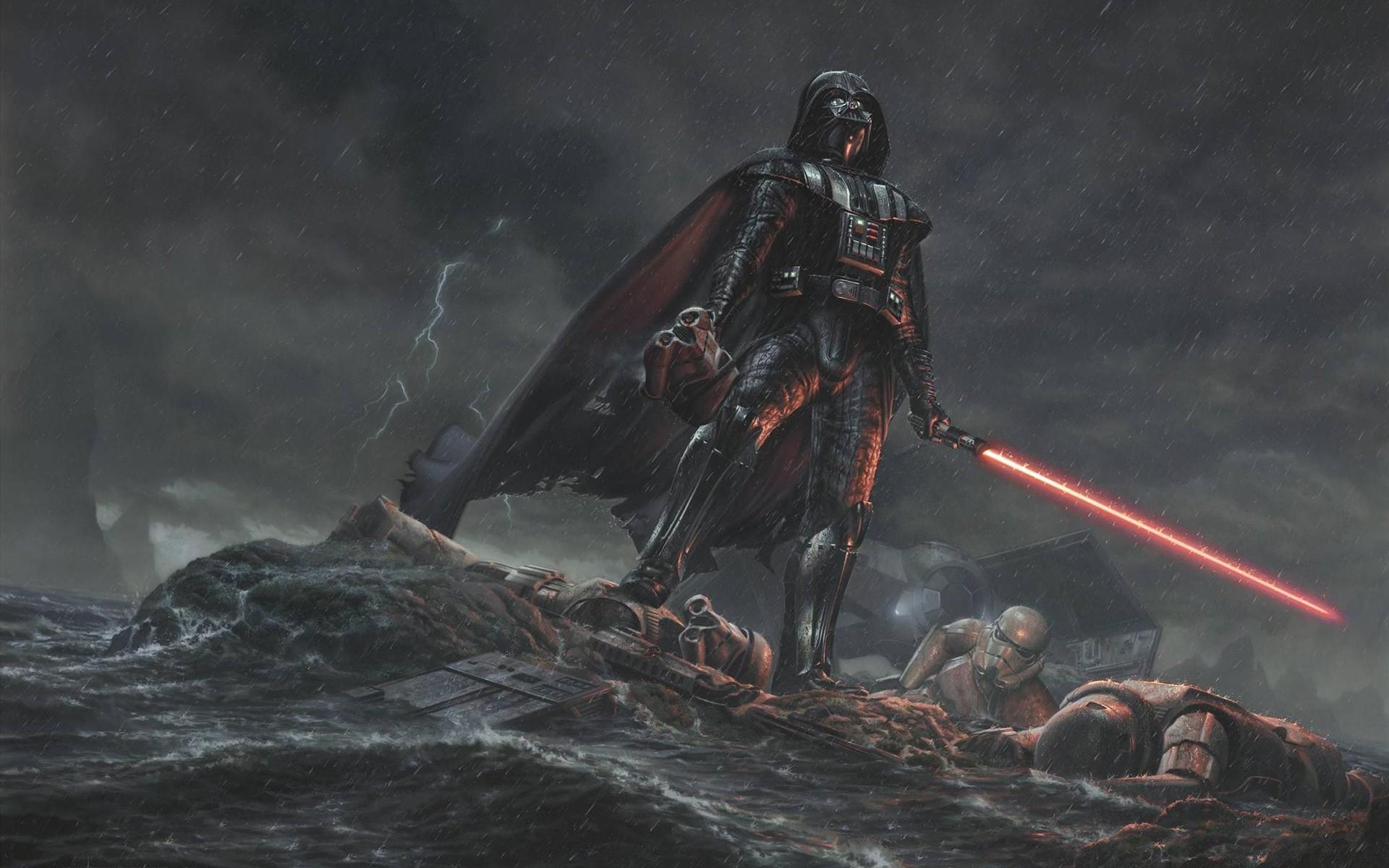Digital Art Movies Star Wars Drawing Darth Vader Full Hd Wallpapers Star Wars 1920x1200 Wallpaper Teahub Io