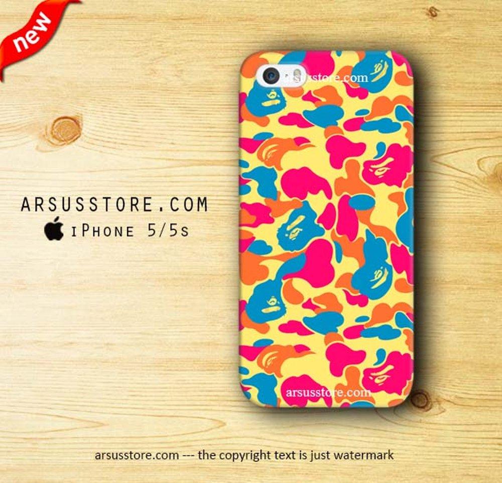 Bathing Ape Wallpaper Iphone - Bape Camo Orange - HD Wallpaper