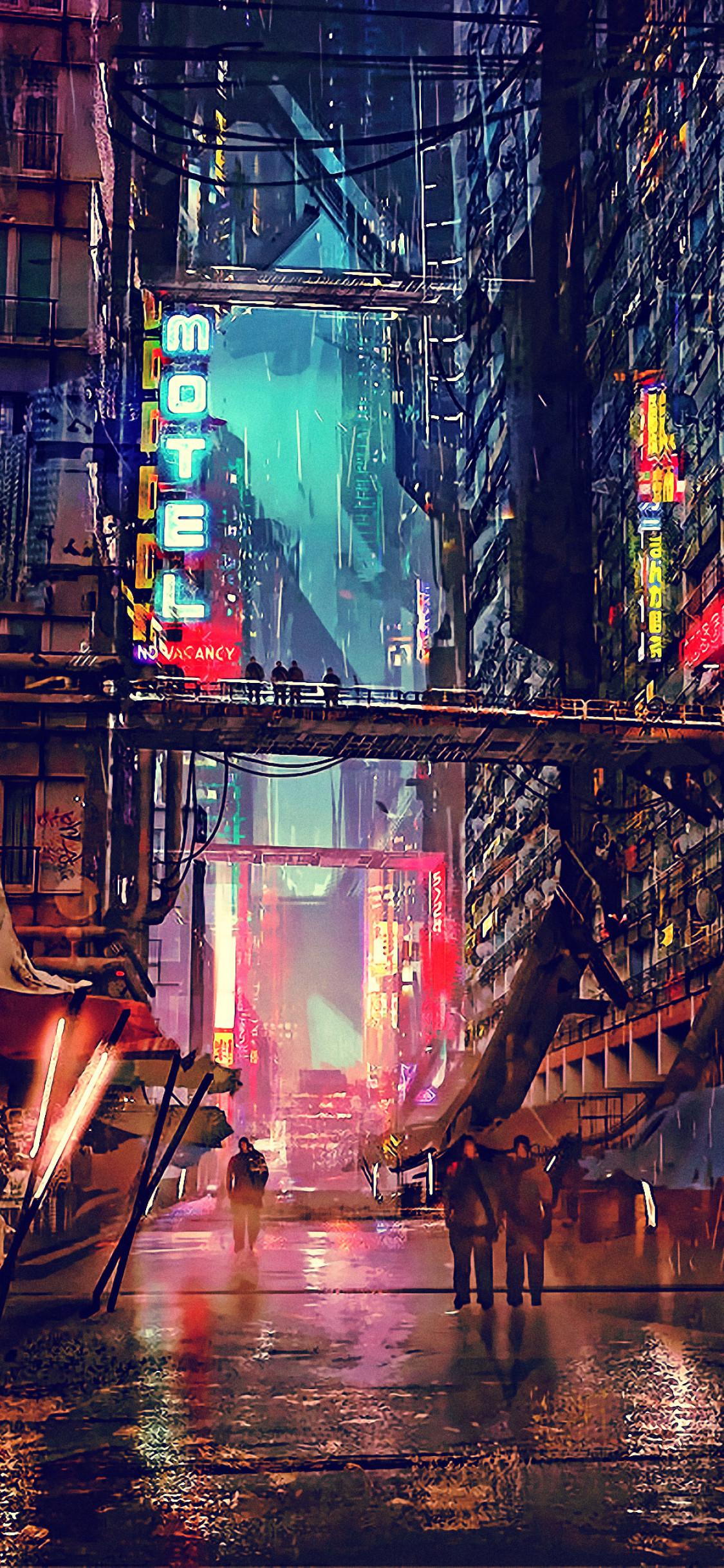 Cyberpunk Ghost In The Shell 1125x2436 Wallpaper Teahub Io