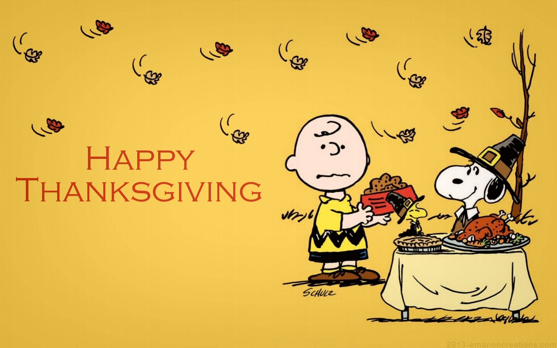 Backgrounds For 800 Disney Thanksgiving Wallpaper Backgrounds - Happy Thanksgiving Charlie Brown - HD Wallpaper