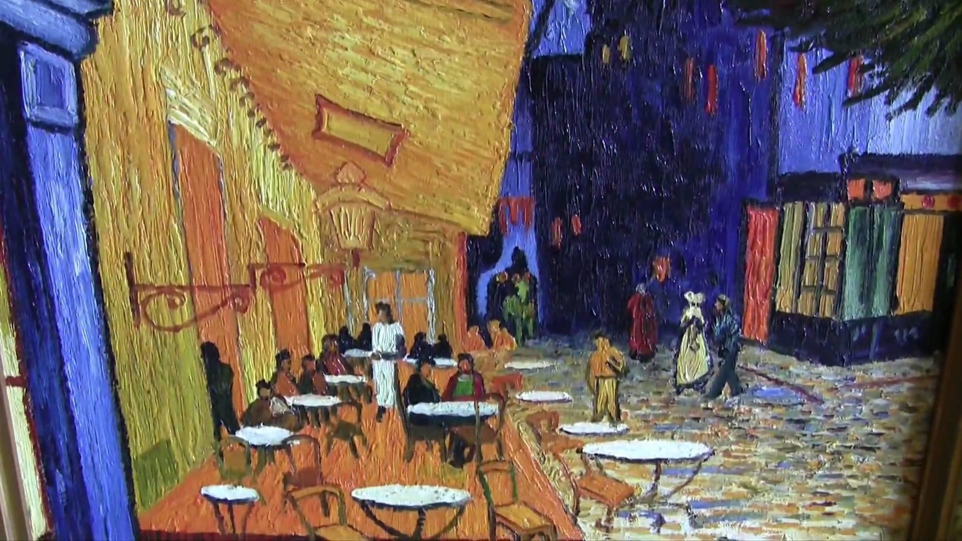 Vincent Van Gogh - Vincent Van Gogh (cafe Terrace At Night) Art Poster -  1920x1080 Wallpaper - teahub.io