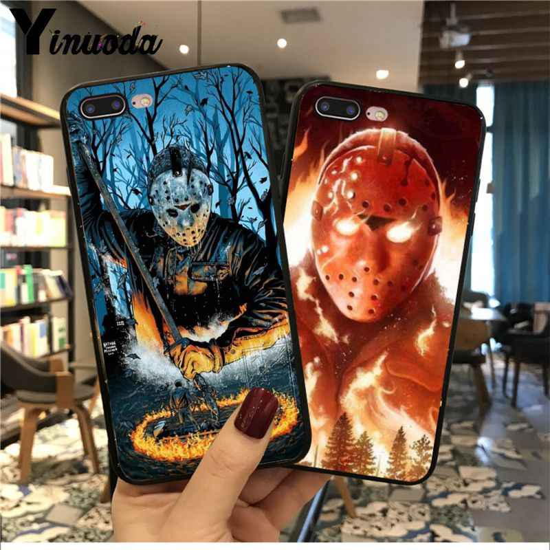 Yinuoda Jason Voorhees Tpu Soft Silicone Black Phone - Off White Case For Iphone 11 Pro Max - HD Wallpaper