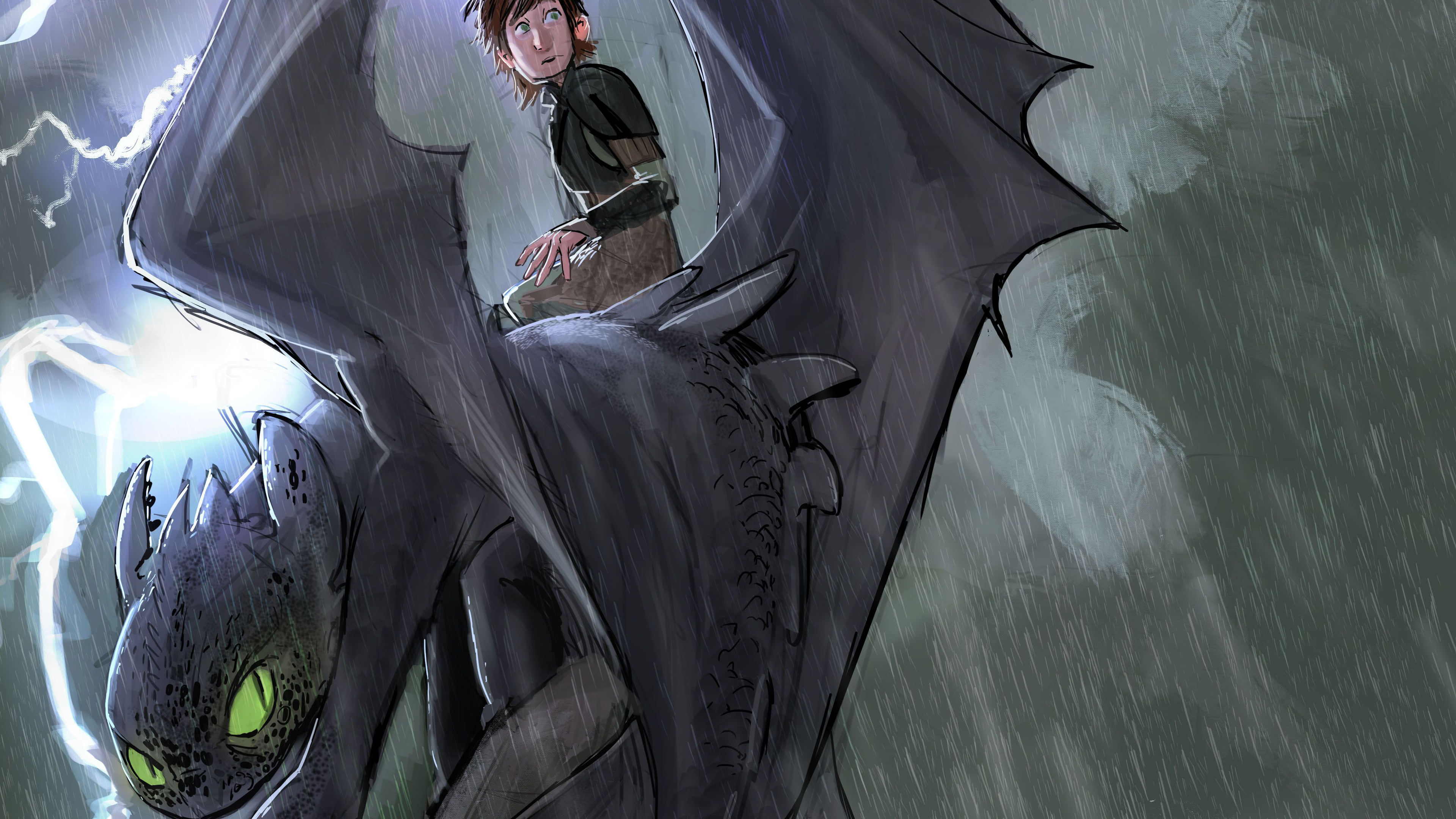 How To Train Your Dragon Into Hidden World Sketch Art Train Your Dragon Toothless Alpha Mode 3840x2160 Wallpaper Teahub Io