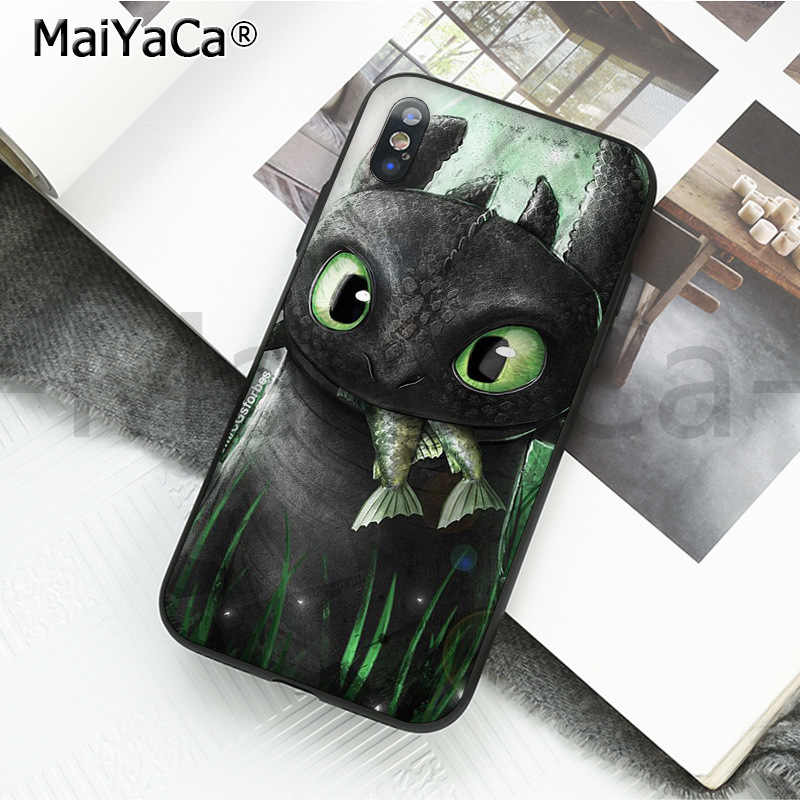Maiyaca Cute Phone Accessories Toothless Train Your - Cute Toothless Phone Case - HD Wallpaper