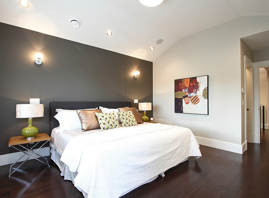 Stylish White Accent Wall Image Of Paint How To Living - 2 Color Bedroom Walls - HD Wallpaper