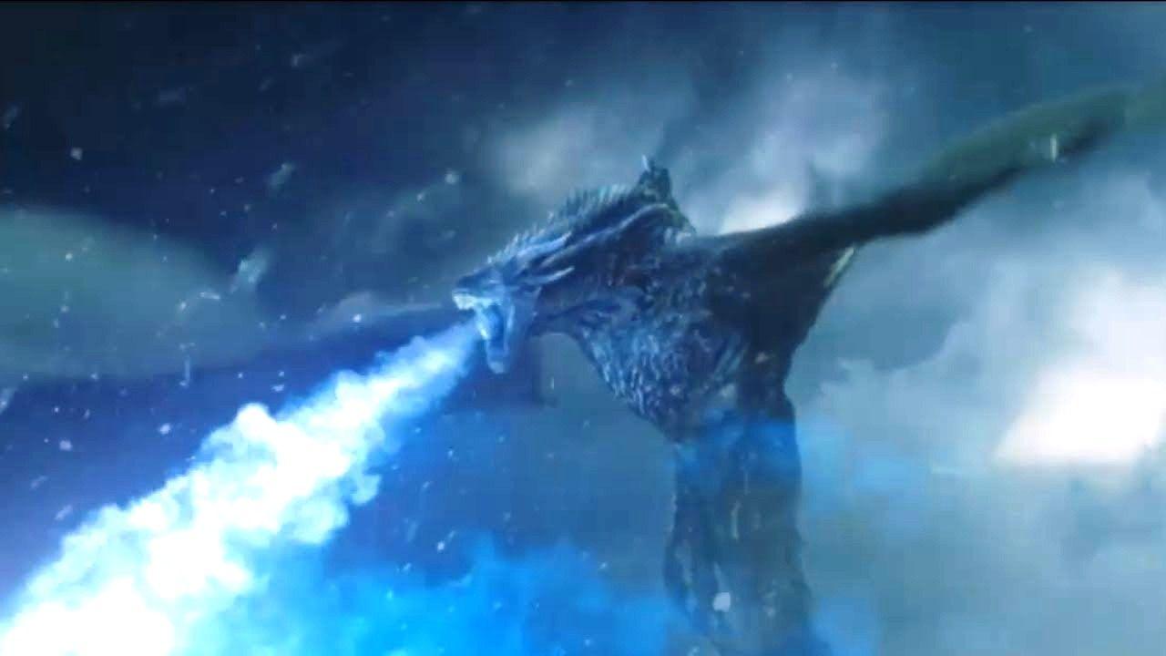 Game Of Thrones Dragon Wallpaper - Game Of Thrones Night King Dragon - HD Wallpaper