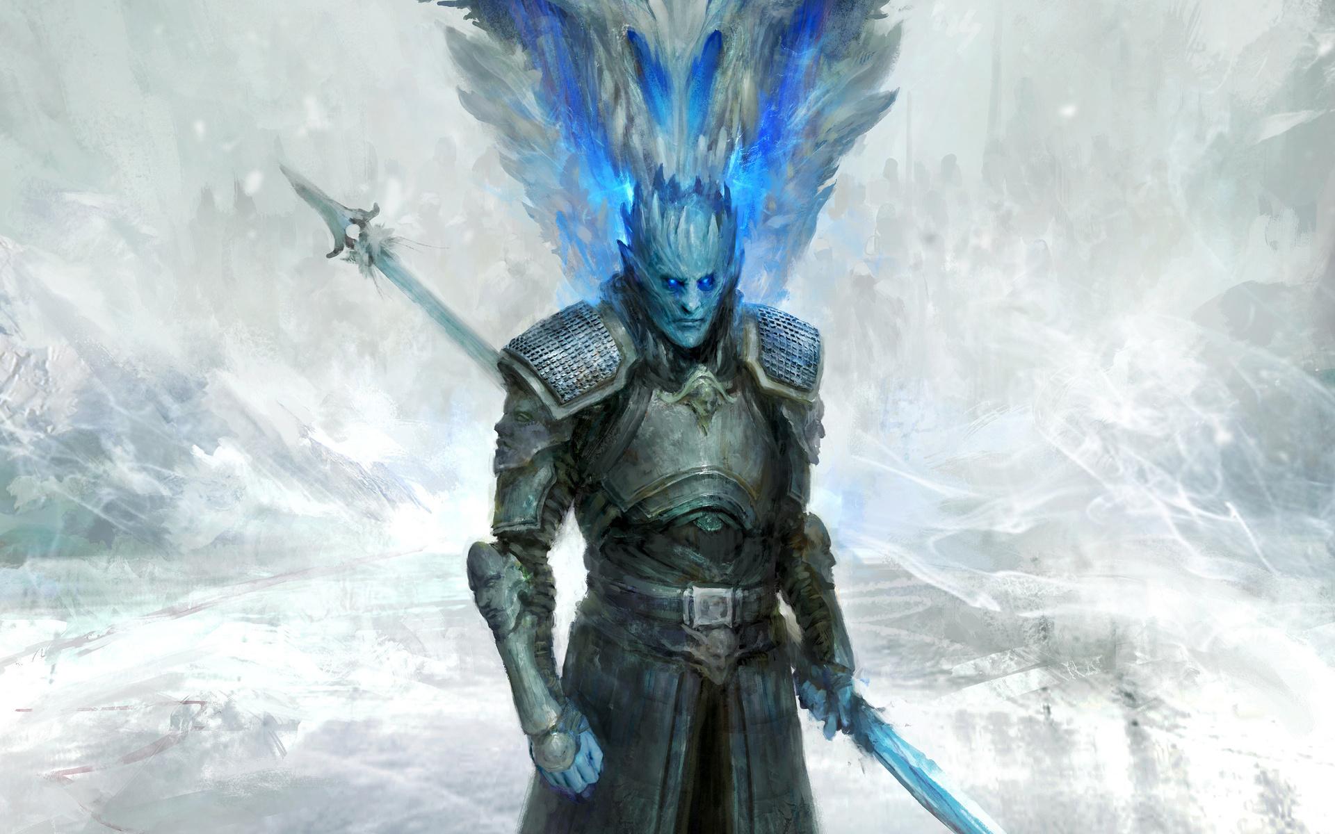 White Walker, Knight King, Dragon, Game Of Thrones, - White Walker King Hd - HD Wallpaper