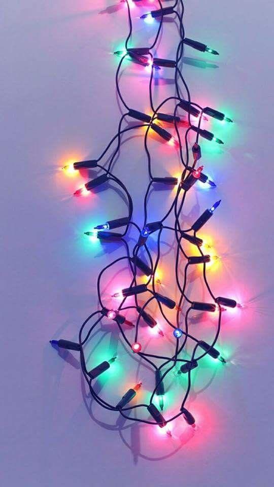 Iphone Xs & Xs Max Wallpaper - Aesthetic Christmas Lights Lockscreen - HD Wallpaper