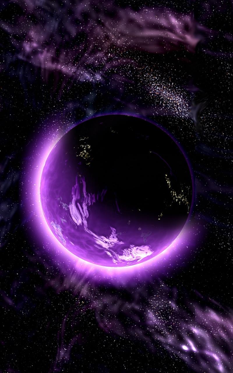 Wallpaper Planet Space Universe Galaxy Purple Iphone Purple Galaxy Wallpaper Hd 800x1280 Wallpaper Teahub Io
