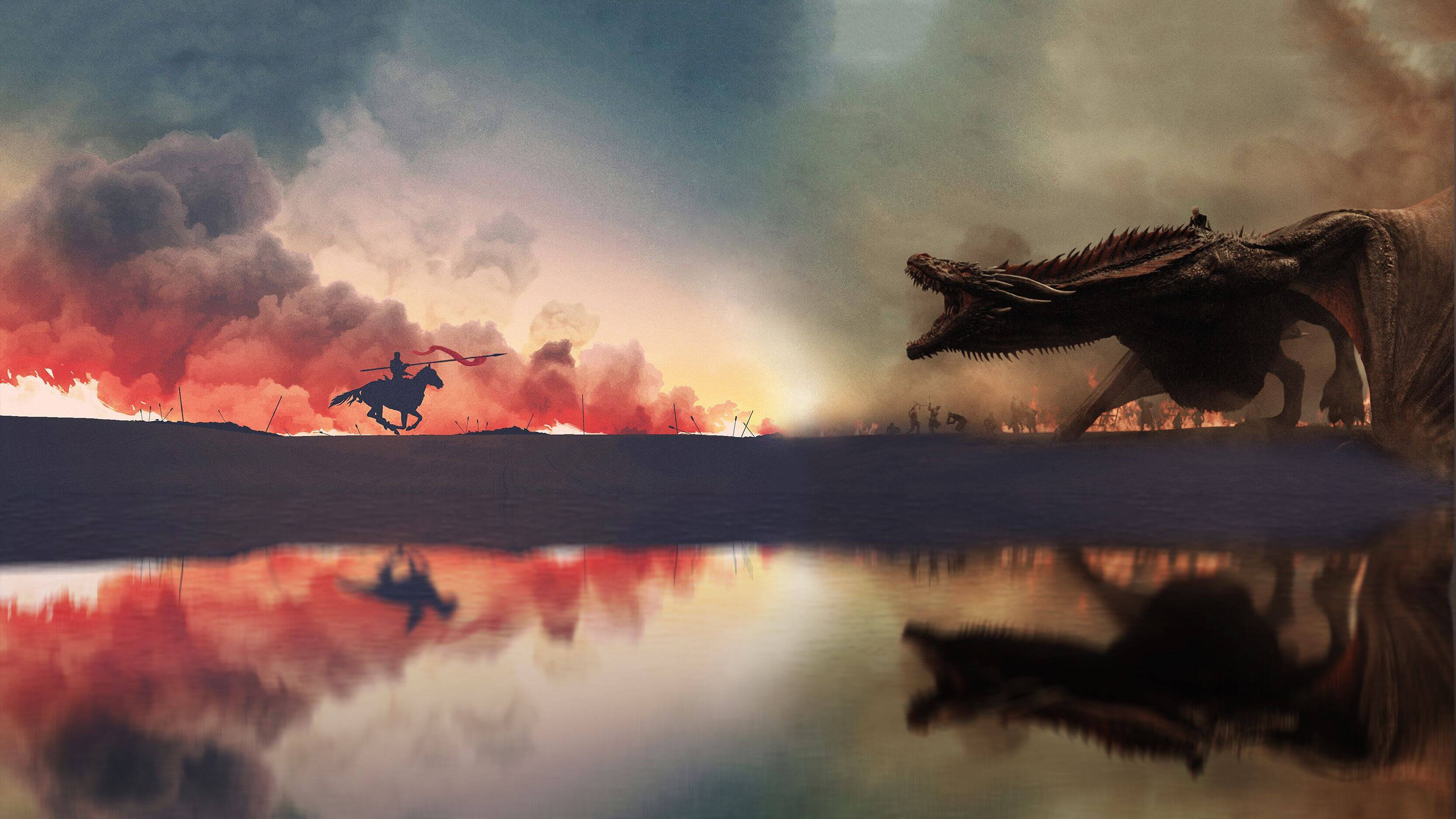 Game Of Thrones Season 8 Wallpaper Loot Train Attack Game Of Thrones 3332x1874 Wallpaper Teahub Io