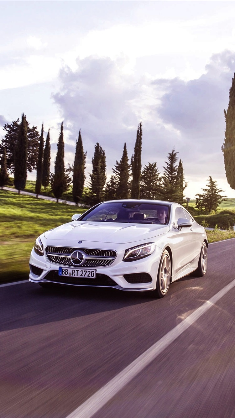 Iphone Wallpaper Mercedes Benz S Class Coupe White ...