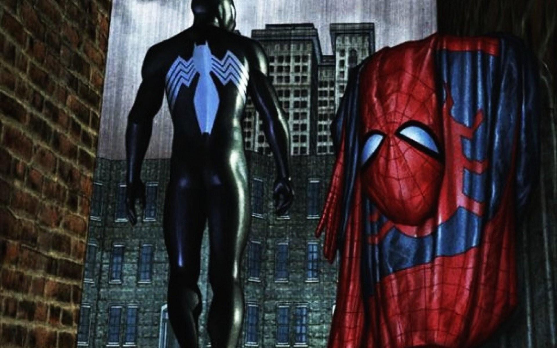 Black Spiderman Wallpapers - Black Suit Spiderman Wallpaper Hd - HD Wallpaper
