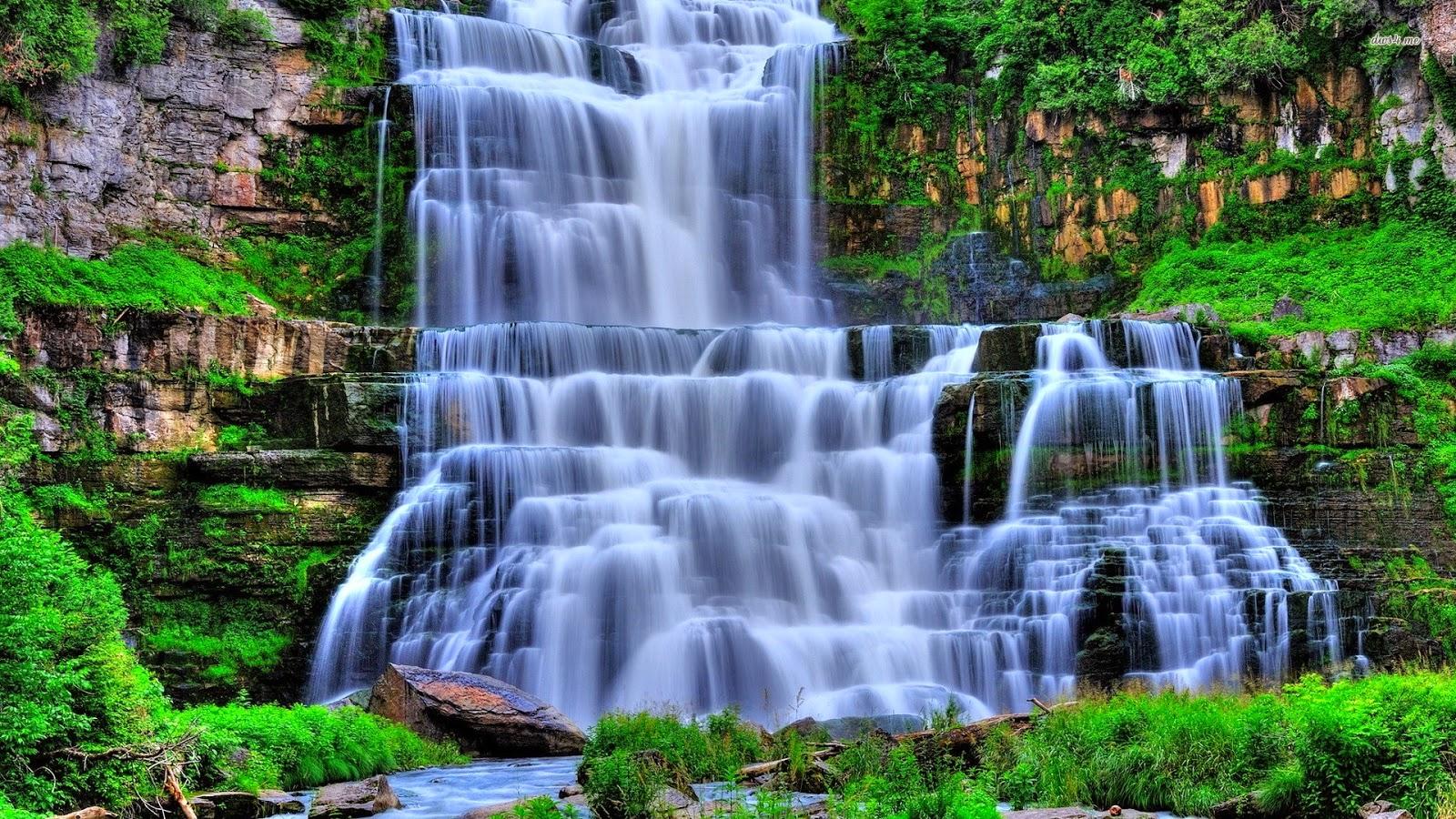 Most Beautiful Waterfall Wallpaper Picserio Nature Waterfall Hd Wallpaper Background 1600x900 Wallpaper Teahub Io