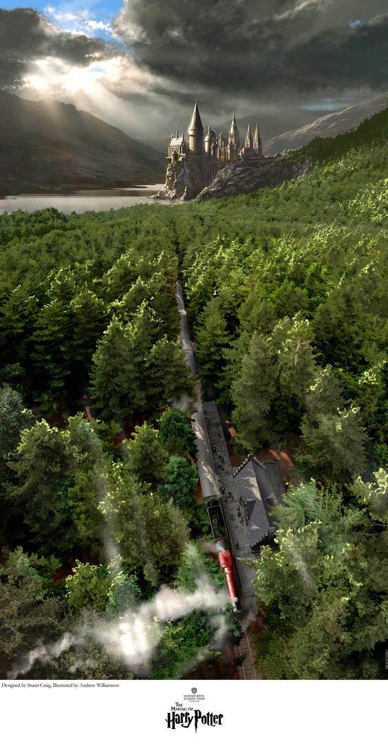 Harry Potter, Hogwarts, And Wallpaper Image - Harry Potter Hogwarts Express Art - HD Wallpaper