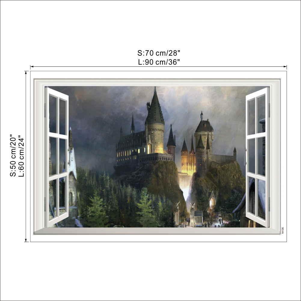 Harry Potter Poster 3d Window Decor Hogwarts Decorative - Harry Potter Theme Park - HD Wallpaper