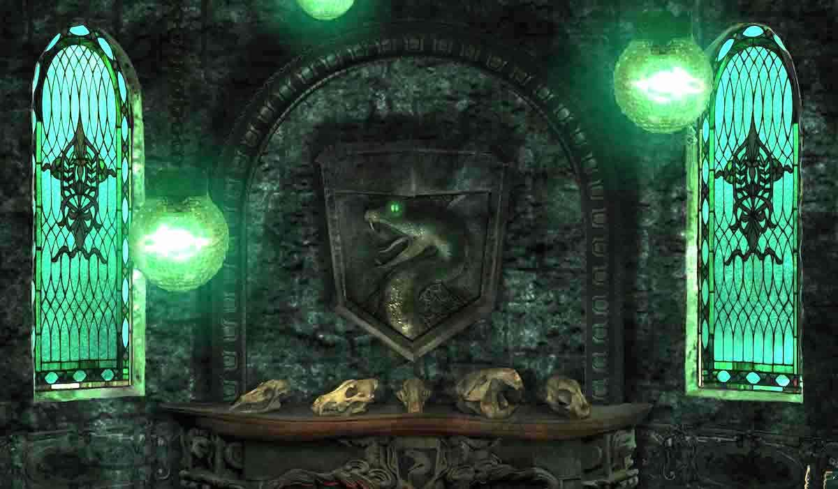 Slytherin Common Room From Harry Potter Pottermore - Slytherin Common Room Pottermore - HD Wallpaper