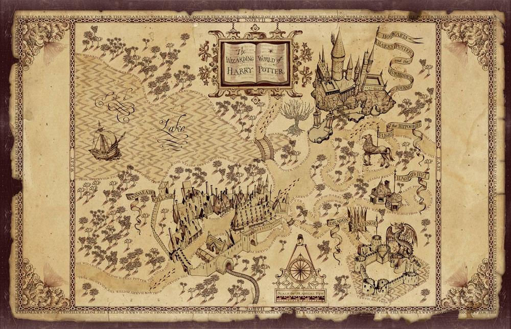 The Wizarding World Of Harry Potter Theme Park - Carte Du Maraudeur Harry Potter A Imprimer - HD Wallpaper