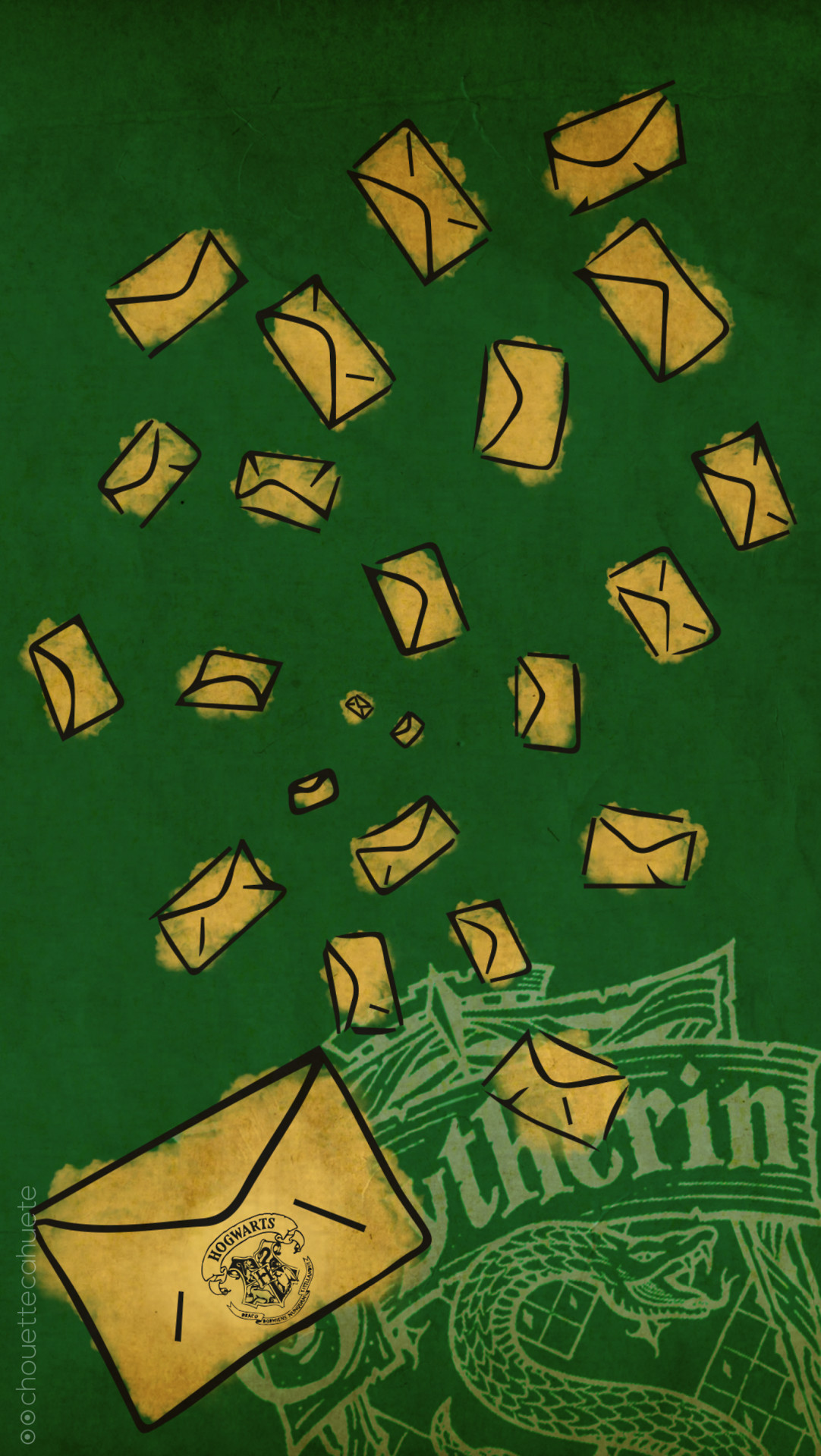 1082x1920, Hogwarts Harry Potter Hogwarts Letter Gryffondor - Slytherin - HD Wallpaper