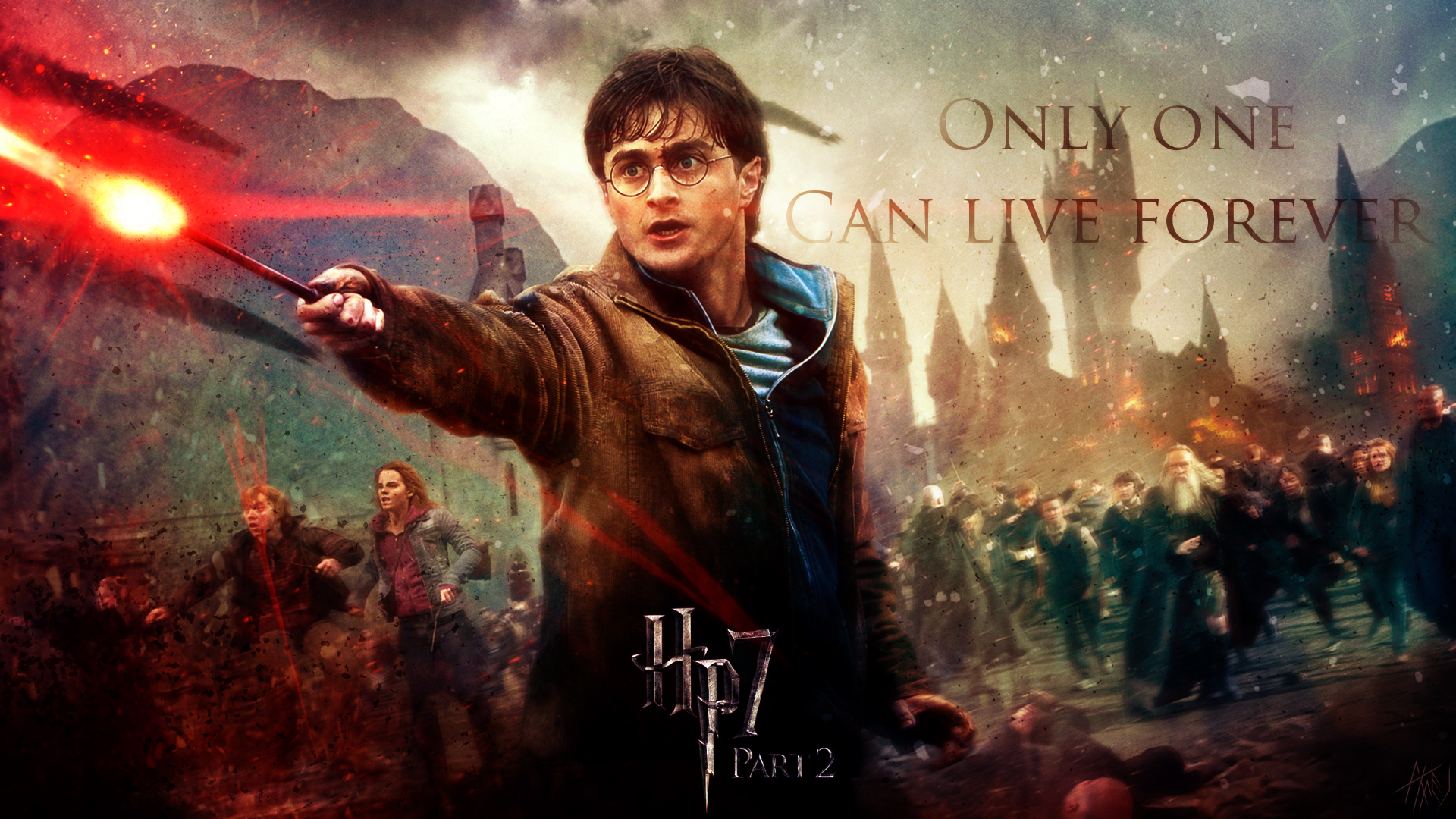 Harry Potter Wallpapers ♥ - Harry Potter Harry Potter And The Deathly Hallows Part - HD Wallpaper