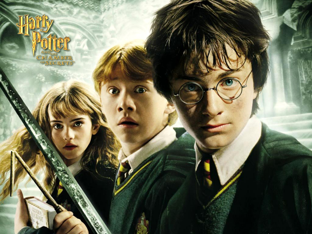 Harry Potter And The Chamber Of Secrets Backgrounds, - Harry Potter Hermione Granger Et Ron Weasley Dessin - HD Wallpaper