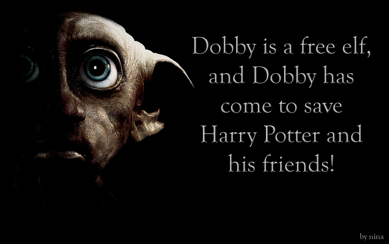 Dobby, A Free Elf Wallpapers - Quotes From Harry Potter Dobby - HD Wallpaper