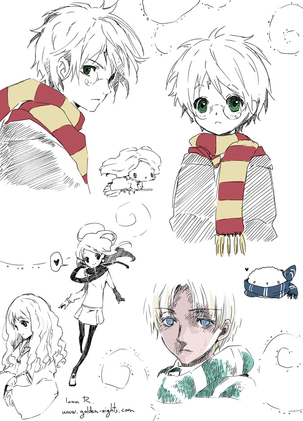 Anime, Inma R - Drawing Harry Potter Anime - HD Wallpaper