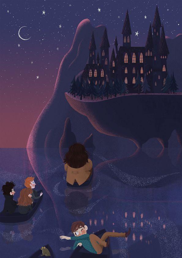 Harry Potter Hogwarts Fanart - HD Wallpaper