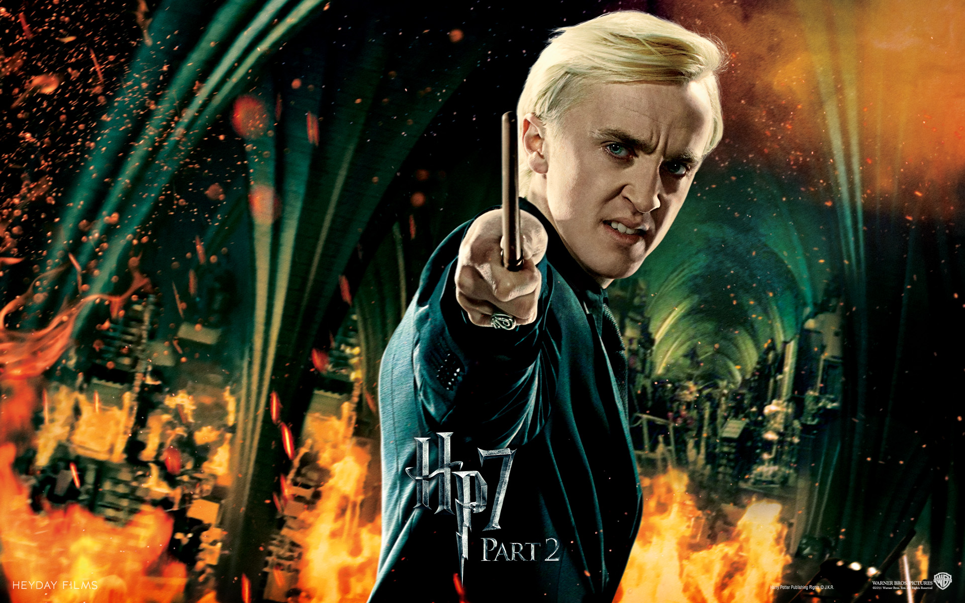 Harry Potter And The Deathly Hallows Draco Malfoy - HD Wallpaper