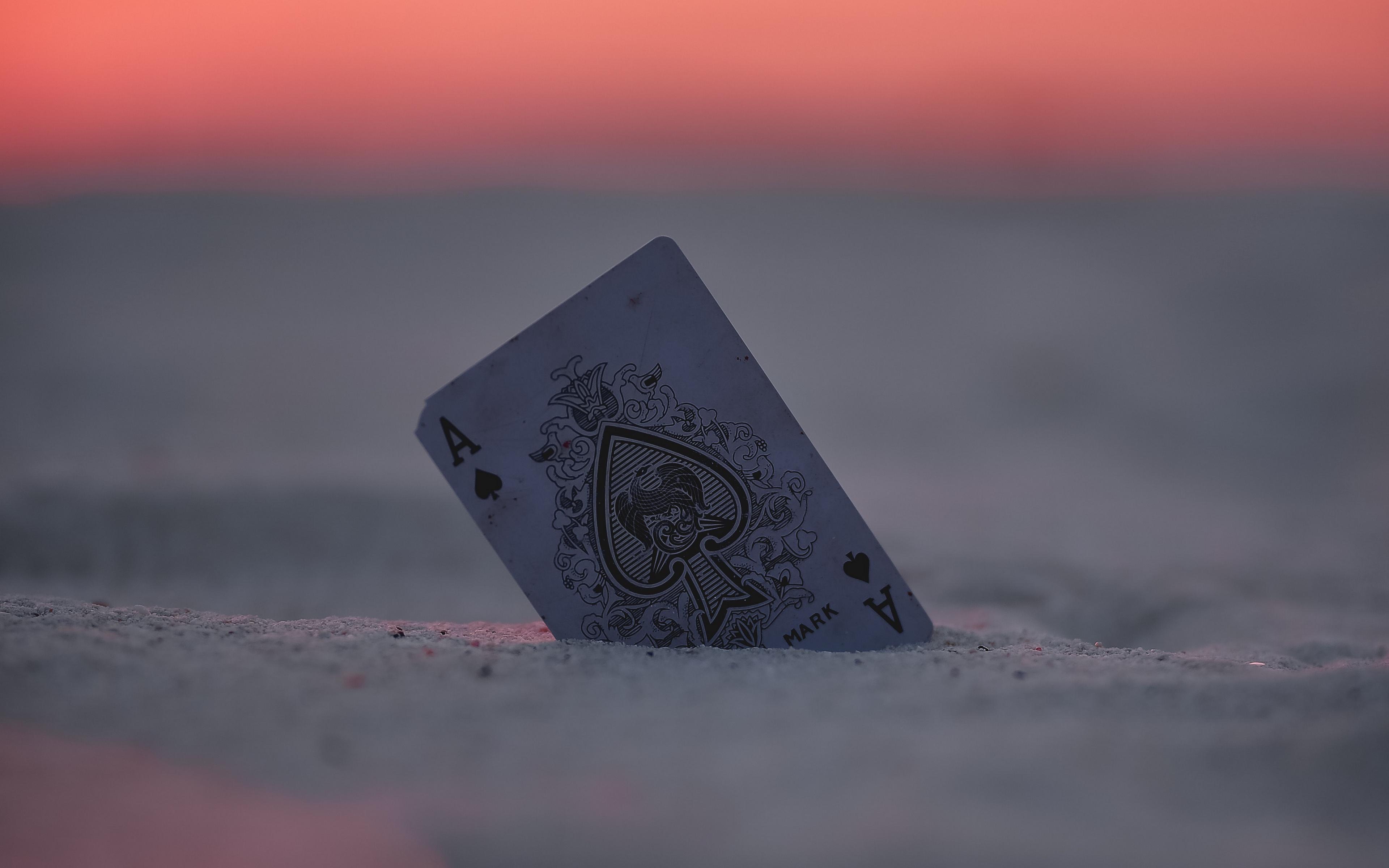 191 1911279 wallpaper card ace sand sunset closeup card ace