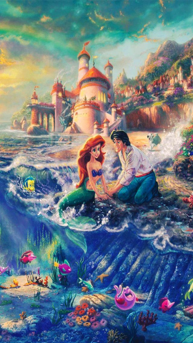 Iphone 5 Disney Wallpaper Little Mermaid Wallpaper Iphone 640x1136 Wallpaper Teahub Io