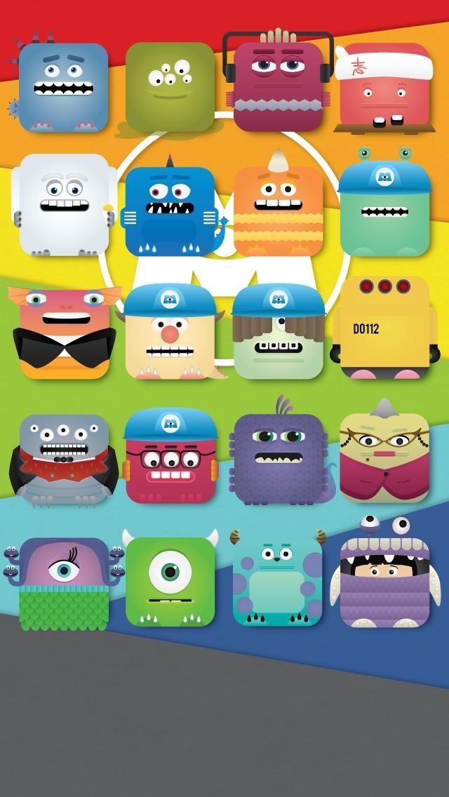 Iphone 5 Disney Wallpaper Monster Inc Iphone 6 640x1136 Wallpaper Teahub Io