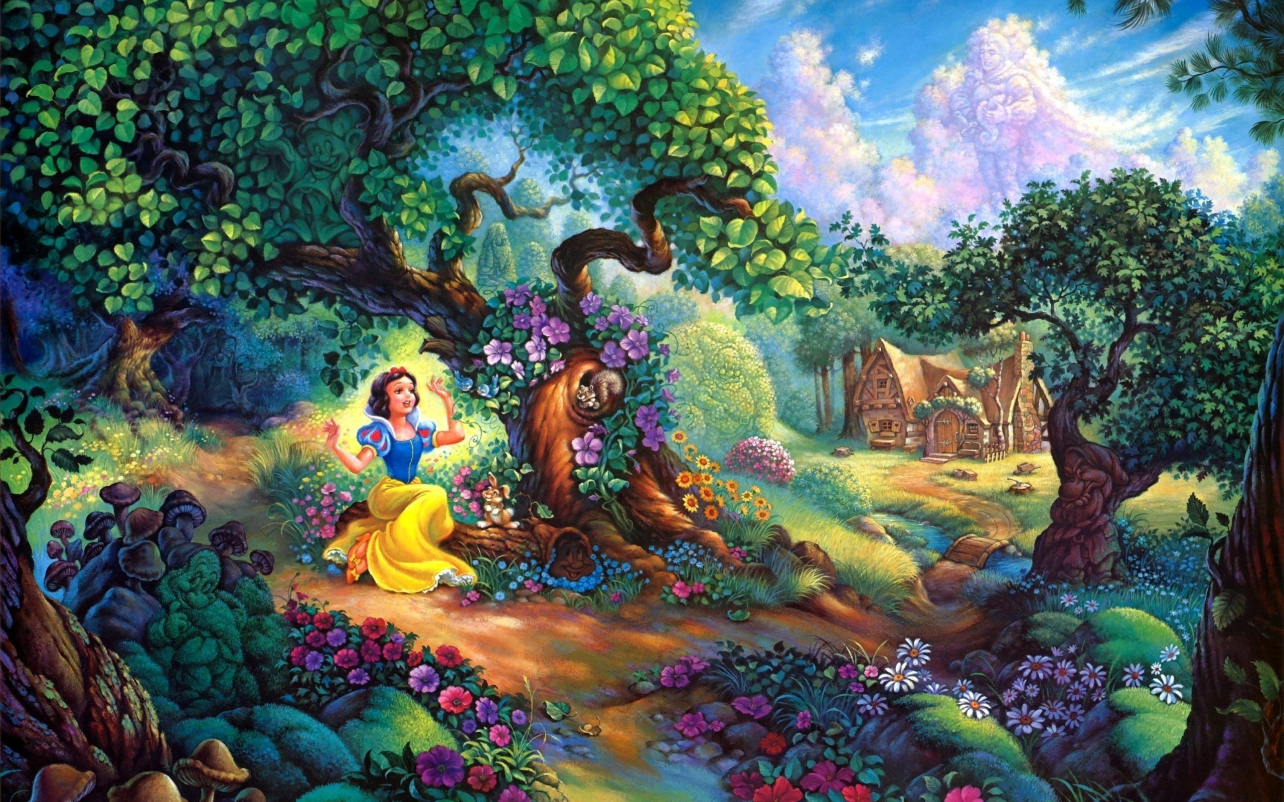 Download Free 50 Disney Wallpaper For Desktop The Quotes - Snow White Background - HD Wallpaper