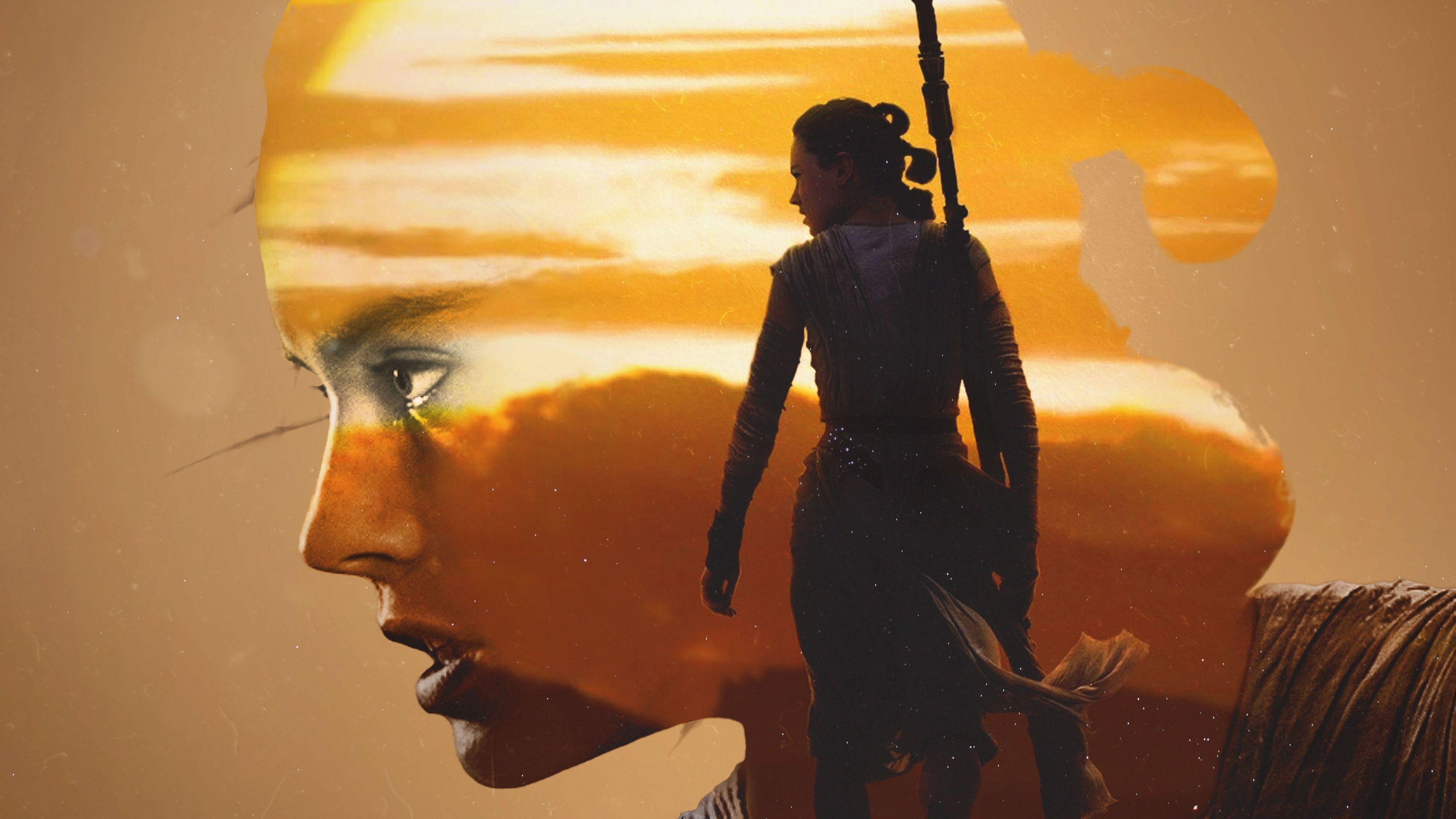 Rey Star Wars Artwork Rey Star Wars Art 3840x2160 Wallpaper Teahub Io