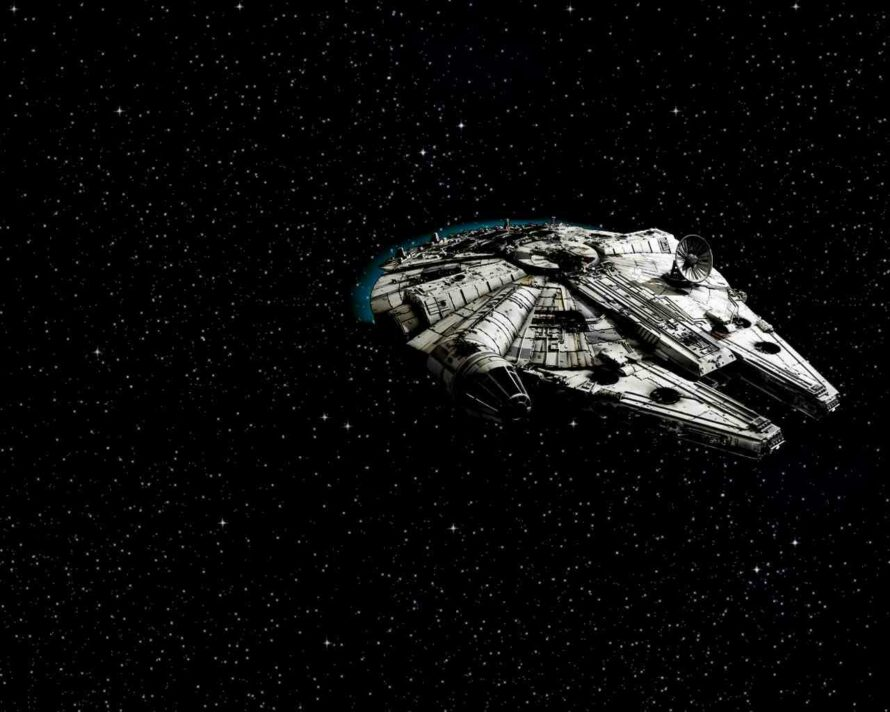 Star Wars Space Wallpaper On Wallpapersafari Millennium Falcon May The Force Be With You 890x712 Wallpaper Teahub Io