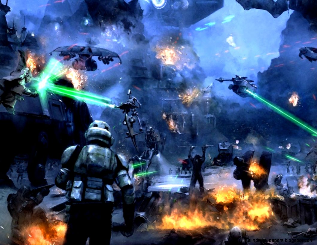 Star Wars Art Wallpapers The Art Mad Wallpapers Star Wars Battle Art 1059x820 Wallpaper Teahub Io